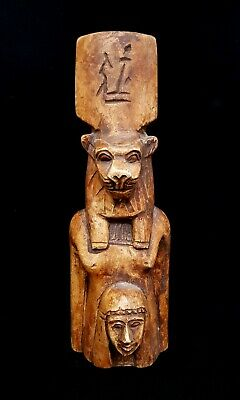 Egyptian Antiques Sekhmet Goddess Of War Lioness Figurine Statuette Rare Faience