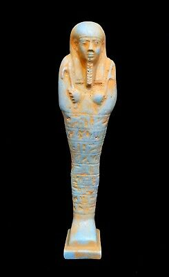 Shabti Egyptian Ushabti Ancient Faience Statue Egypt Hieroglyphic Mummy Carved