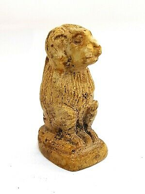 Rare Egypt Ancient Baboon Amulet Faience New Kingdom Antique Stone Egyptian art
