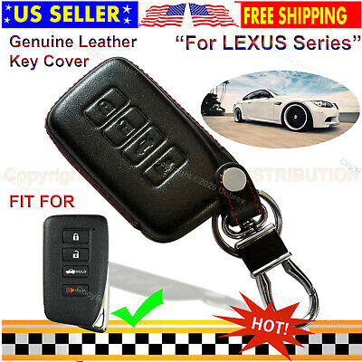 Genuine Leather Cover Smart 4 Buttons Keyless Remote Car Fob Case for Lexus Key
