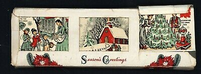 SALESMAN SAMPLE MATCHBOOKS - Old Fashioned CHRISTMAS THEMES - 6 COUNT in Box