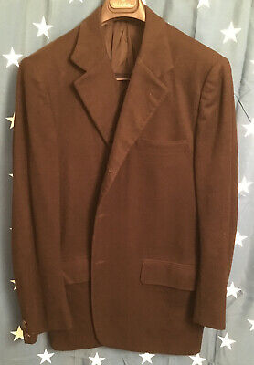J.Press 100% Cashmere BLACK Blazer Jacket Sport Coat Size 42R  3 Button