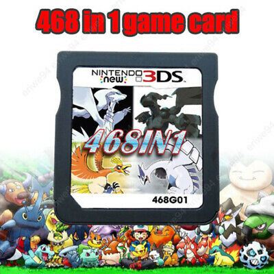 468 in 1 Game Card Pokemon Cartridge For Nintendo DS NDS NDSL NDSi 2DS 3DS US