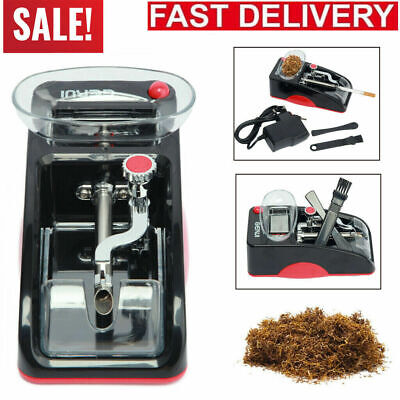Blue Electric Automatic Cigarette Rolling Machine Roller Tobacco Injector Maker