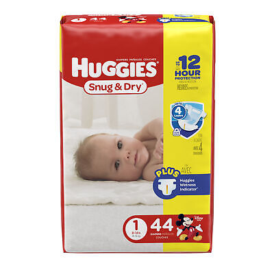Huggies Snug & Dry Disposable Baby Diapers Size 1 Pack of 44