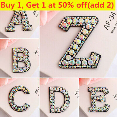 Letters Embroidery Sew Iron On Patch Badge Fabric Bag Clothes Applique Craft DIY