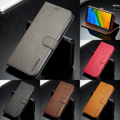 For Xiaomi Redmi 8 8A 7 7A 6 Pro 4X Flip Leather Wallet Cards Holder Case Cover