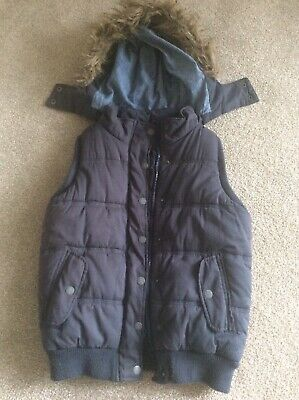 Girls Fat Face Hooded Gilet Body Warmer Age 10-11 Years