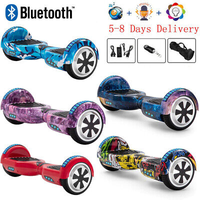 "Hoverboard 6.5"" Electric Scooters Bluetooth Self Balance Board LED Wheels Lights"