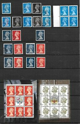 Qeii Machin Nvi Excellent Collation Of 42 Stamps Incl Walsall 2Nd Mnh Pane