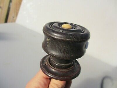 Victorian Wooden Door Handle Knob Antique Pull Old Wood Vintage French x1