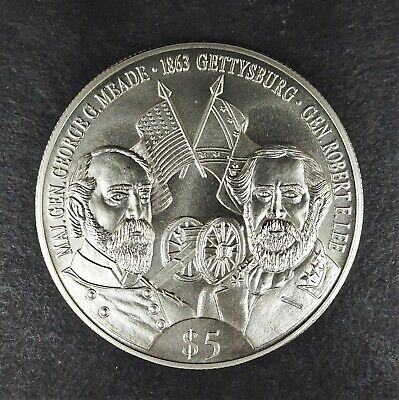 2000 Republic Of Liberia American Civil War $5 Commemorative Coin  RG978