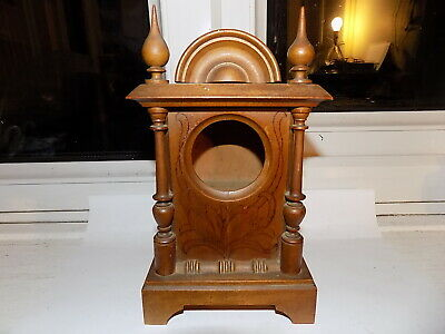 Antique Black Forest Alps Region Carved Wooden 'Clock Case' Pocket Watch Stand