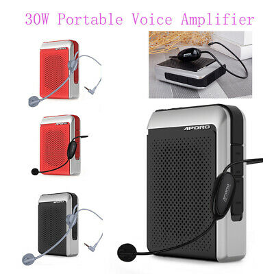APORO 30W 2.4G Wireless Bluetooth Voice Amplifier Loudspeaker Megaphone FM Radio