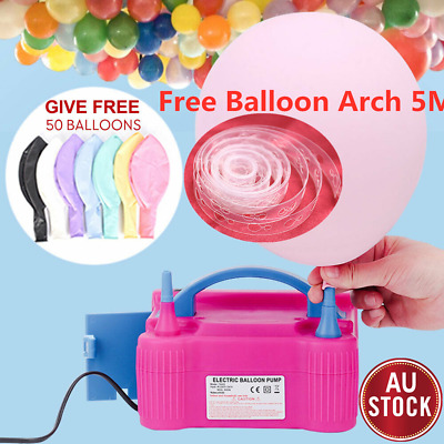Electric Balloon Inflator Pump Two Nozzle 600W Power Air Blower Party Portable