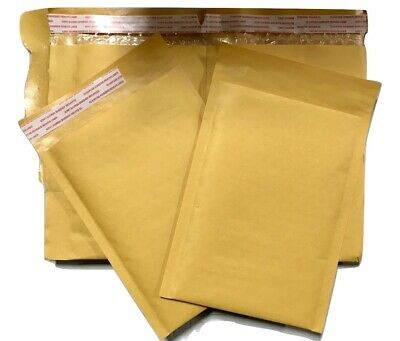 """500 #00 5x10 Kraft Paper Bubble Padded Envelopes Mailers Case 5/""""x10/"""""""