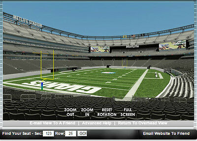 4 New York Giants PSL 1 Parking Passes Section 123 Tickets Metlife NJ