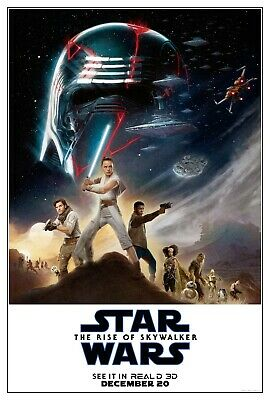 "Star Wars The Rise of Skywalker (2019) Movie Silk Fabric Poster 11""x17"" 24""x36"""
