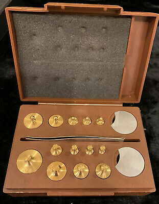 Set of Torbal Brass Weights in Case
