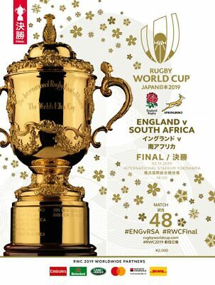 Rugby World Cup Final 2019 England South Africa Official Programme