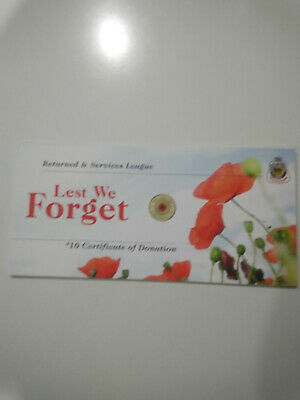 """2012 RSL Certificate Card For $2 Red Poppy """"Card Only"""" FIRM 4 for $25"""