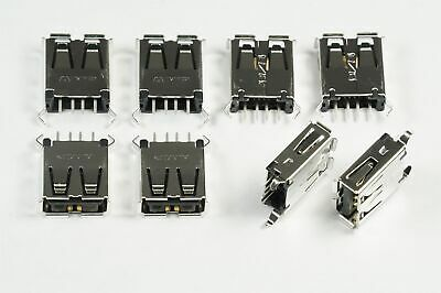 Lot of 8 1734366-1 TE Conn USB-A 2.0 Connector 4 Position Thru Hole Vert NOS