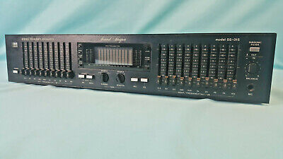 ADC Sound Shaper SS-315 10 Band Stereo Frequency Equalizer Spectrum Analyzer