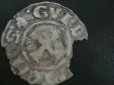 Crusader cross templar silver coin Byzantine period 1300 fractional 700 yr old
