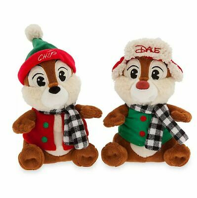 Disney Parks 2019 Christmas Chip and Dale Plush Doll New With Tags