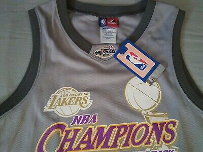 Vintage* KOBE BRYANT* 2010 Finals Champions Lakers *Gray Jersey (L) Youth/Ladies
