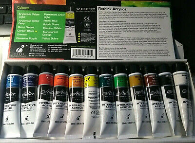 Samples from Atelier Interactive Acrylic Paints Set. 12 x 1.8ml