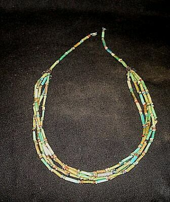 Five Strand Mummy Bead Necklace  Egyptian 600Bc