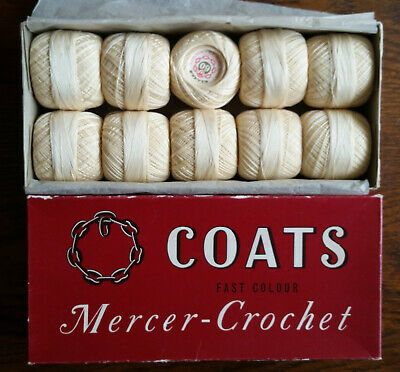 Coats Chain Mercer Crochet Fast Color Vintage Cotton Thread No 60810x 20g Balls