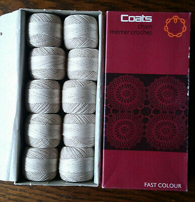 Coats Chain Mercer Crochet 40 Fast Color Vintage Cotton Thread 610 10x20g Balls