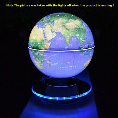 "LED Light Home Room Decor Floating 6""8"" World glow globe Map Magnetic Levitation"