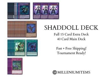 YUGIOH COMPLETE SHADDOLL DECK! TOURNAMENT READY! Winda Construct Shaddoll Fusion