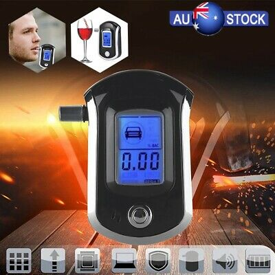 Digital LCD Police Breathalyzer Breath Alcohol Tester Detector Mouthpieces AU