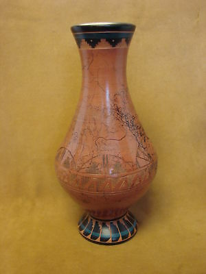 Native American Indian Horse Hair Hand Etched Pot by Mirelle Gilmore