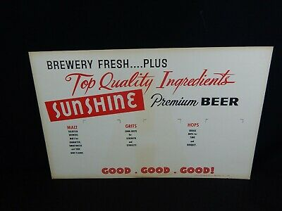 Sunshine Beer Advertising Reading Brewery Cardboard Stand Up  c-70 -2