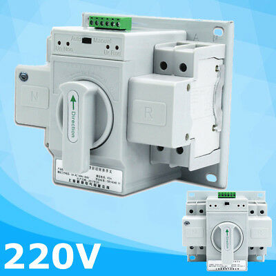 2P 63A AC220V MCB Type Dual Power Automatic Transfer Switch ATS 150x138x115mm