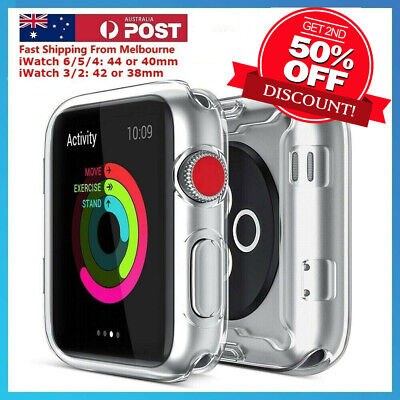 For Apple Watch Series5/4 iWatch Screen Protector Case Full Coverage/Clear TPU