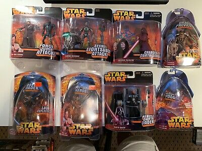 Star Wars Revenge of the Sith Lot of 8 Different Figures NOC Hasbro 2005