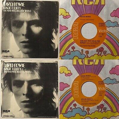 David Bowie space oddity / man who sold the world 45 w/ Picture Sleeve *NM