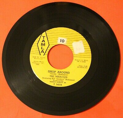 "THE MIRACLES ""Shop Around"" 1961 High Grade MOTOWN SOUL ROCKER on Tamla - VG++"