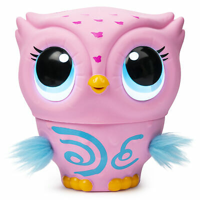 Owleez Flying Baby Owl Interactive Toy with Lights & Sounds 6+Years Pink & White