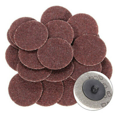 25Pcs 2 Inch 36 Grit Disc Roll Lock R Type Sanding Abrasive For Rotary Tool