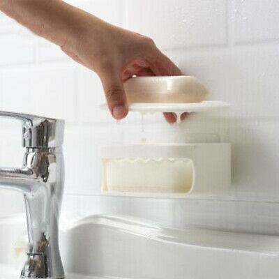 Detachable Double-layered Wall-mounted Self-adhesive Soap Box Holder Organizer Q