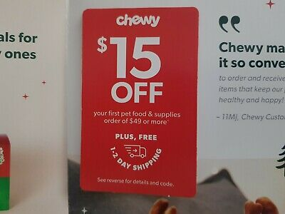 CHEWY: $15 Off your First Order of $49 - Coupon Code Expires 02/29/20