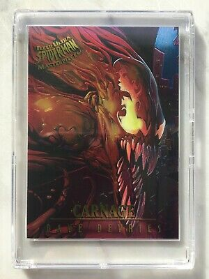 1995 Fleer Ultra Spider-Man MASTERPIECES Chase Card #1 CARNAGE DeVries Marvel