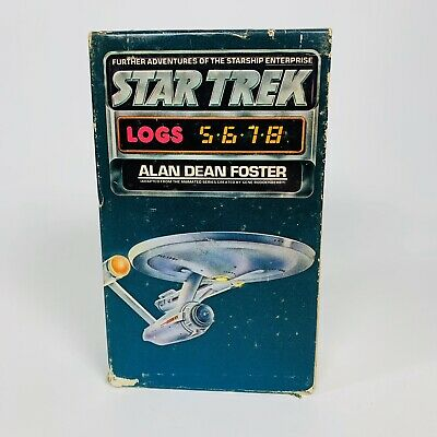 Vintage Star Trek Log Books 5 6 7 8 In Original Case Alan Dean Foster 1975, 1976